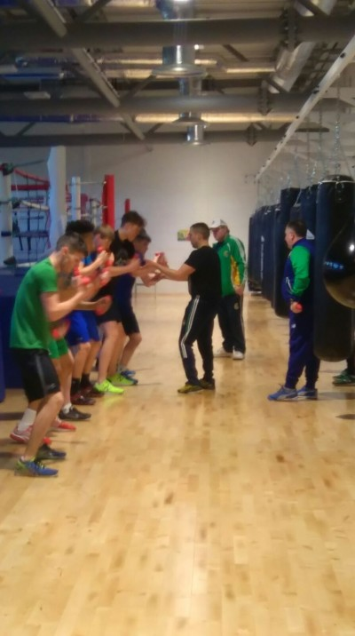 Irish European U/22 squad squad training in Abbotstown