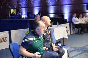 Irish coaches Zaur Antia and Pat McDonagh in Romania